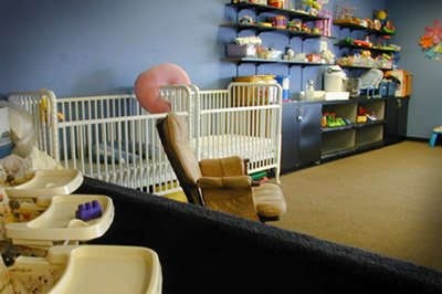 Fully staffed nursery for ages 8 month to 6 years